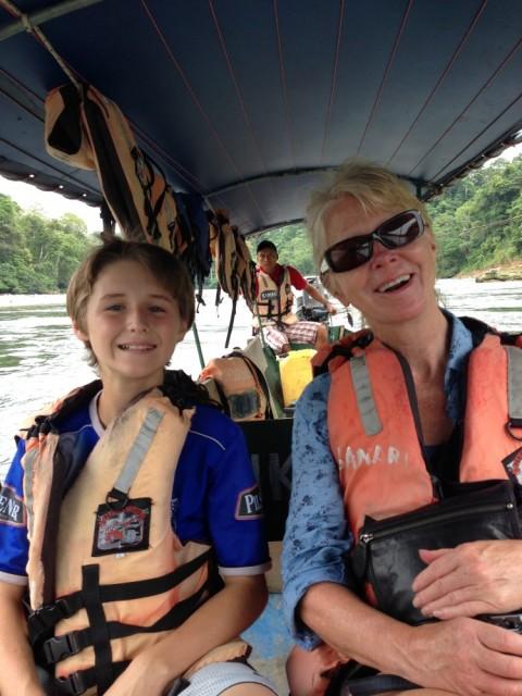 Boating on the Amazon